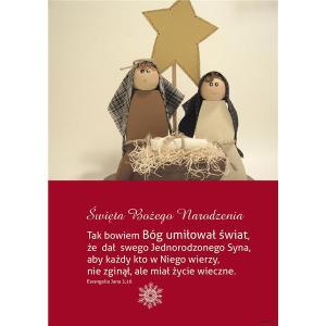 Plakat Boże Narodzenie - stajenka