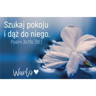 Magnes WARTO z wersetem biblijnym - kwiat