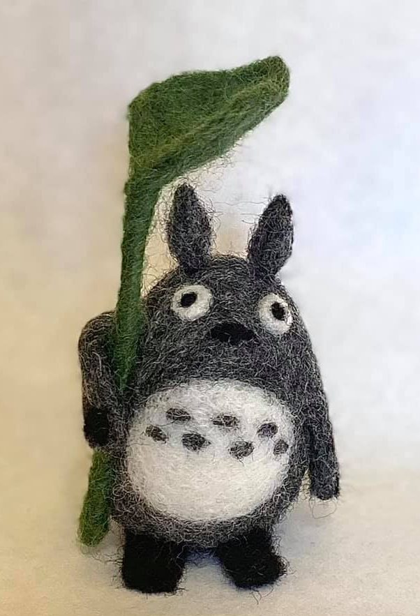 One of a kind needle felted Totoro