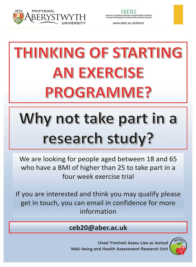 Exercise Programme Research Study Recruitment