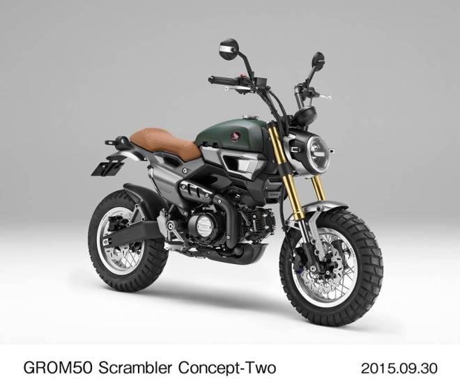 Honda grom50 concept scrambler two