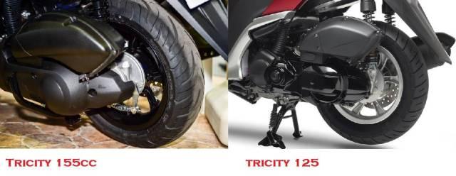 ban dan ban belakang tricity