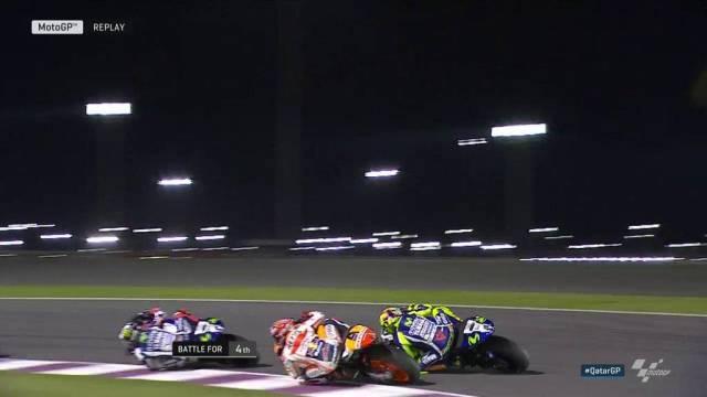 Aksi Marquez salip Rossi