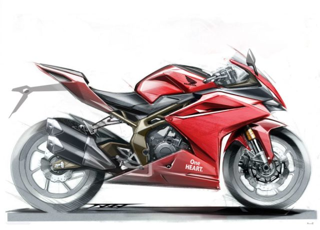 Melihat Sketsa Konsep Dasar Desain Honda CBR250RR