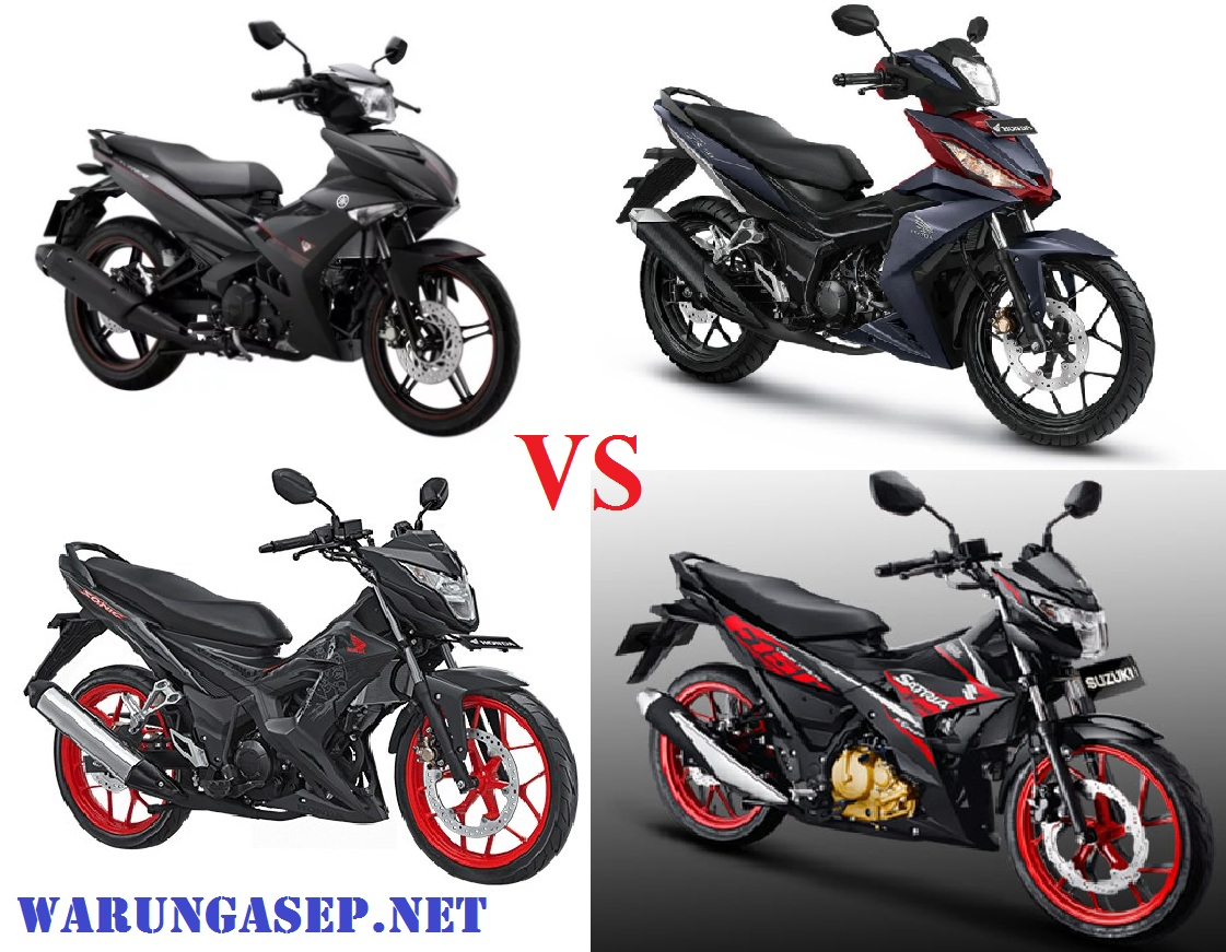mx king vs sonic vs satria vs supra gtr