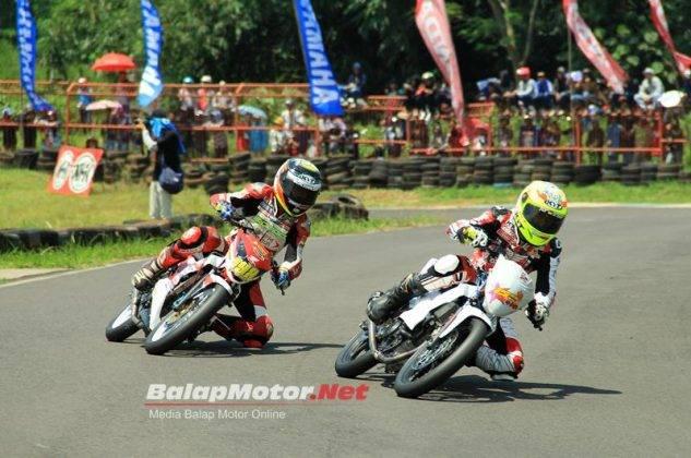 Awhin dan Adly saat Race Motoprix MP1 Subang 2016