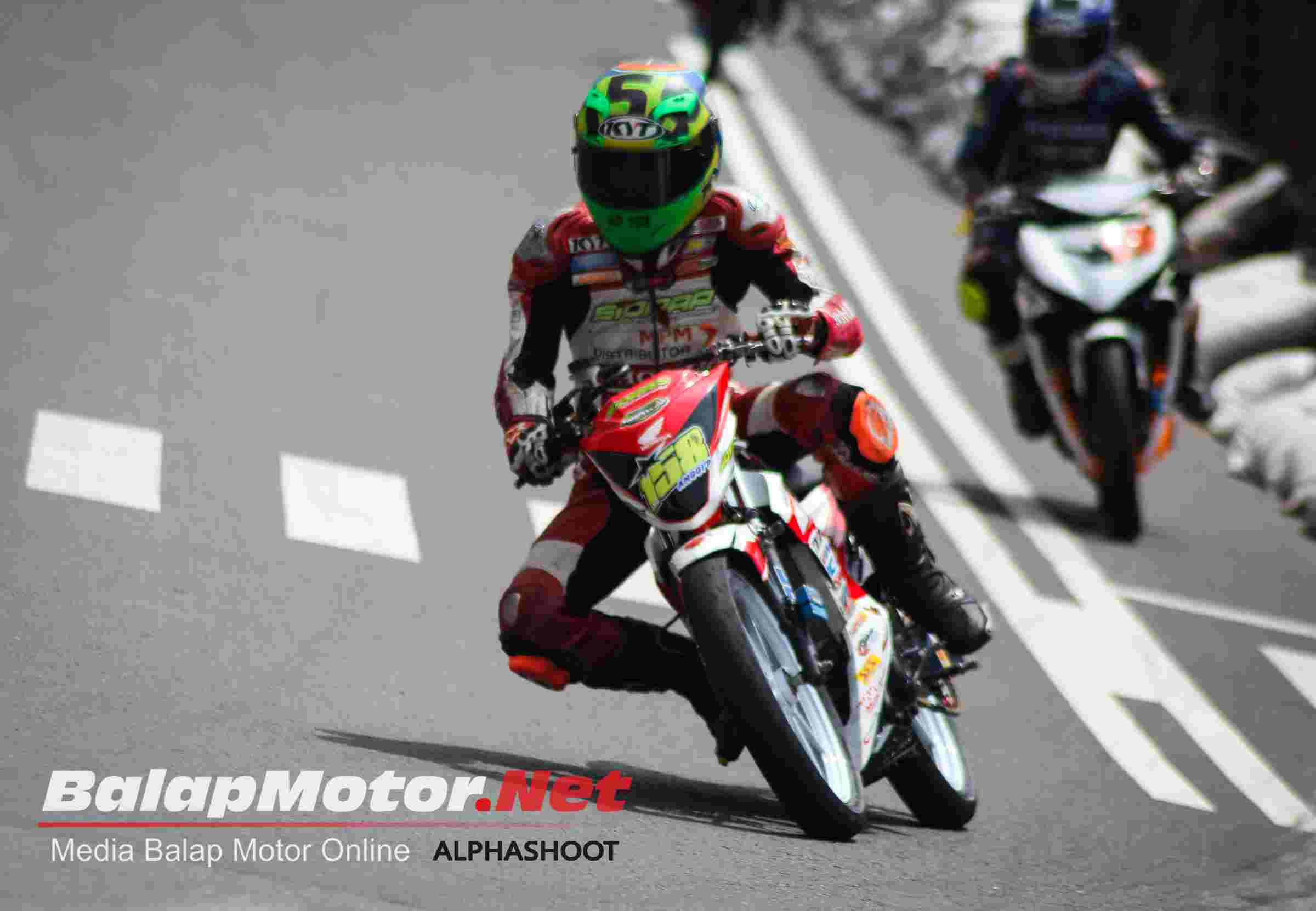 Anggi Permana pembalap Tasik, juara 2 MP1 Motoprix wonogiri 2016