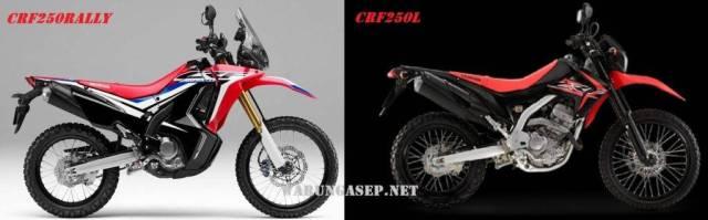 Perbandingan desain Honda CRF250Rally dan CRF250L