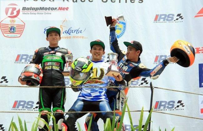 Podium IRS 150cc 2016, Syahrul Amin juara sekaligus Juara Nasional kelas150cc