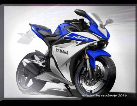 konsep Yamaha YZF-R25 facelift Racing Blue karya aroelmoto