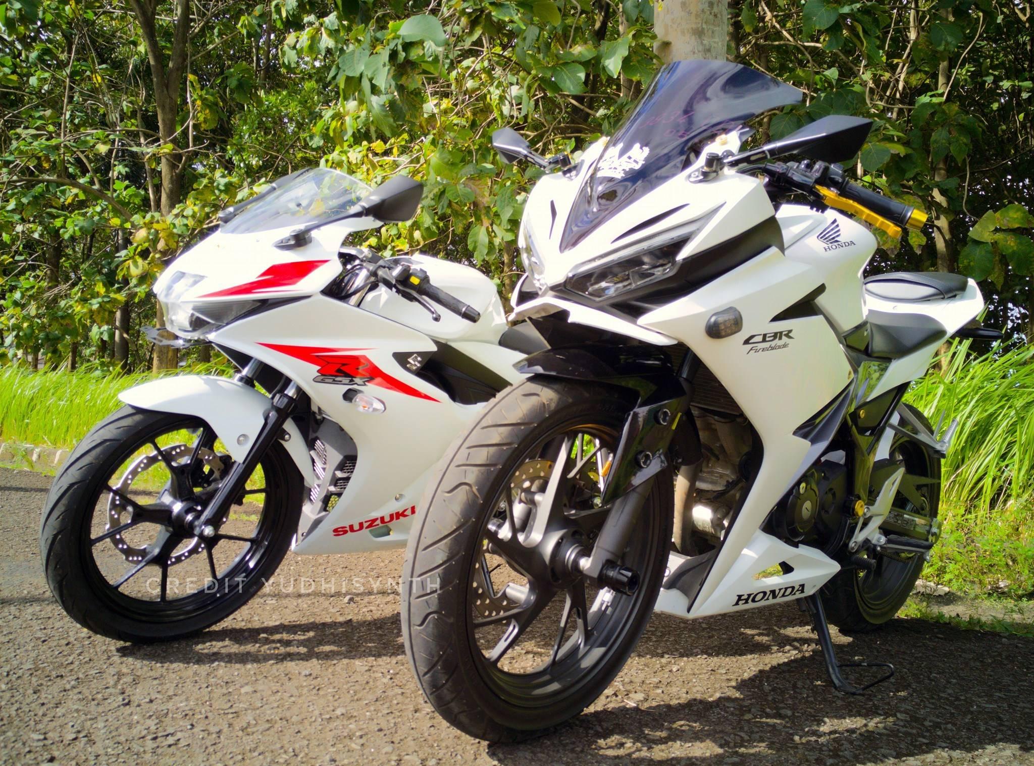 Perbandingan Fisik Suzuki GSX R150 Dan Honda CBR150R WARUNGASEP