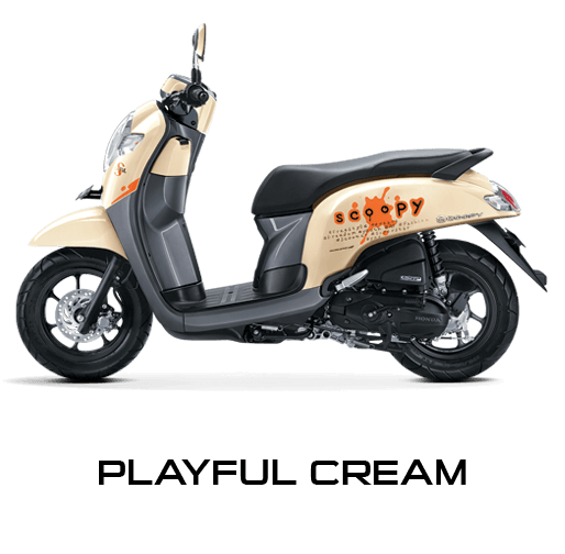 honda scoopy 2017 plyful cream