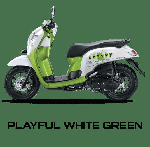 honda scoopy 2017 putih hijau