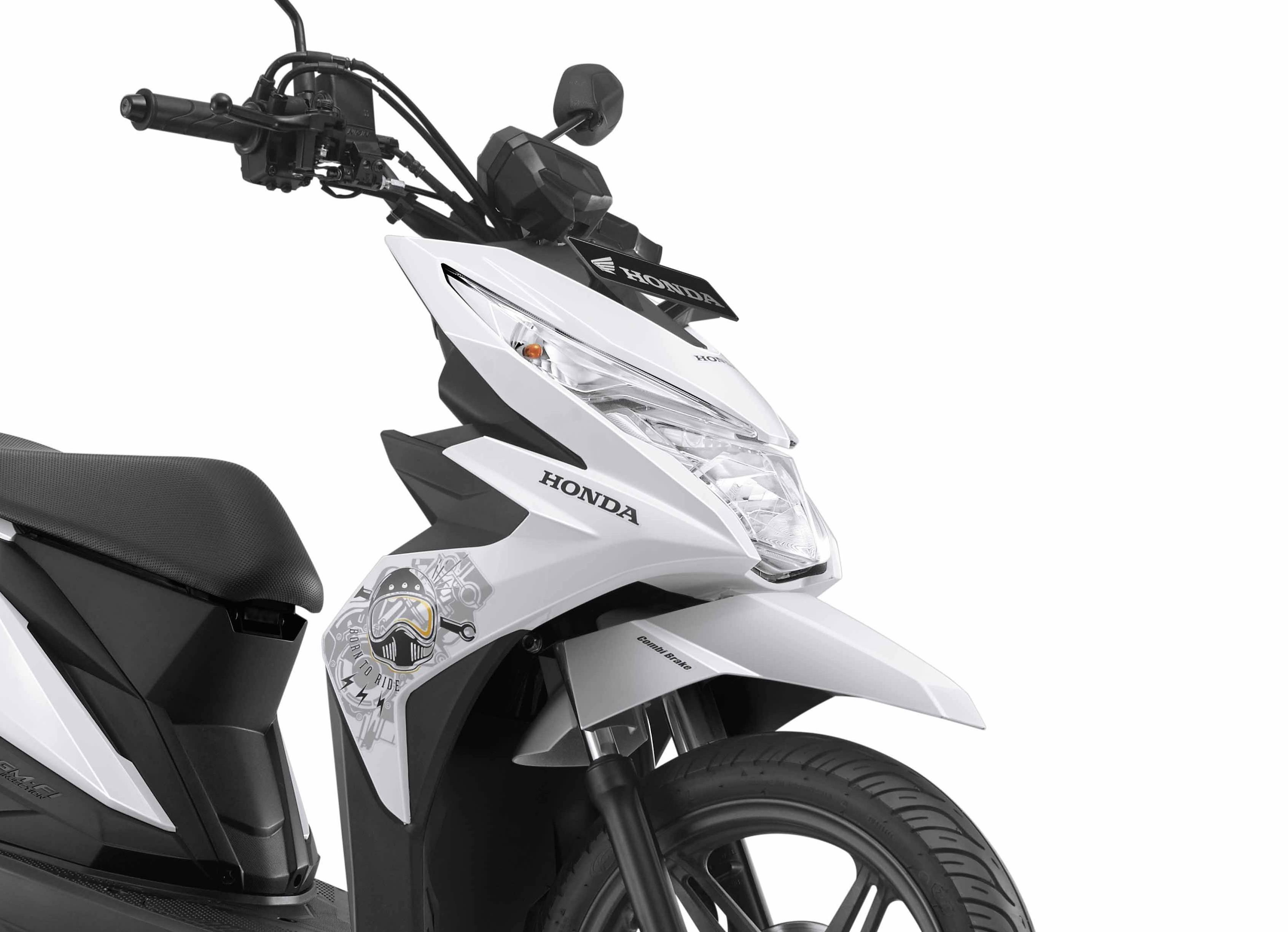 Terupdate Modifikasi Motor Beat Street Warna Putih Gambar Stiker