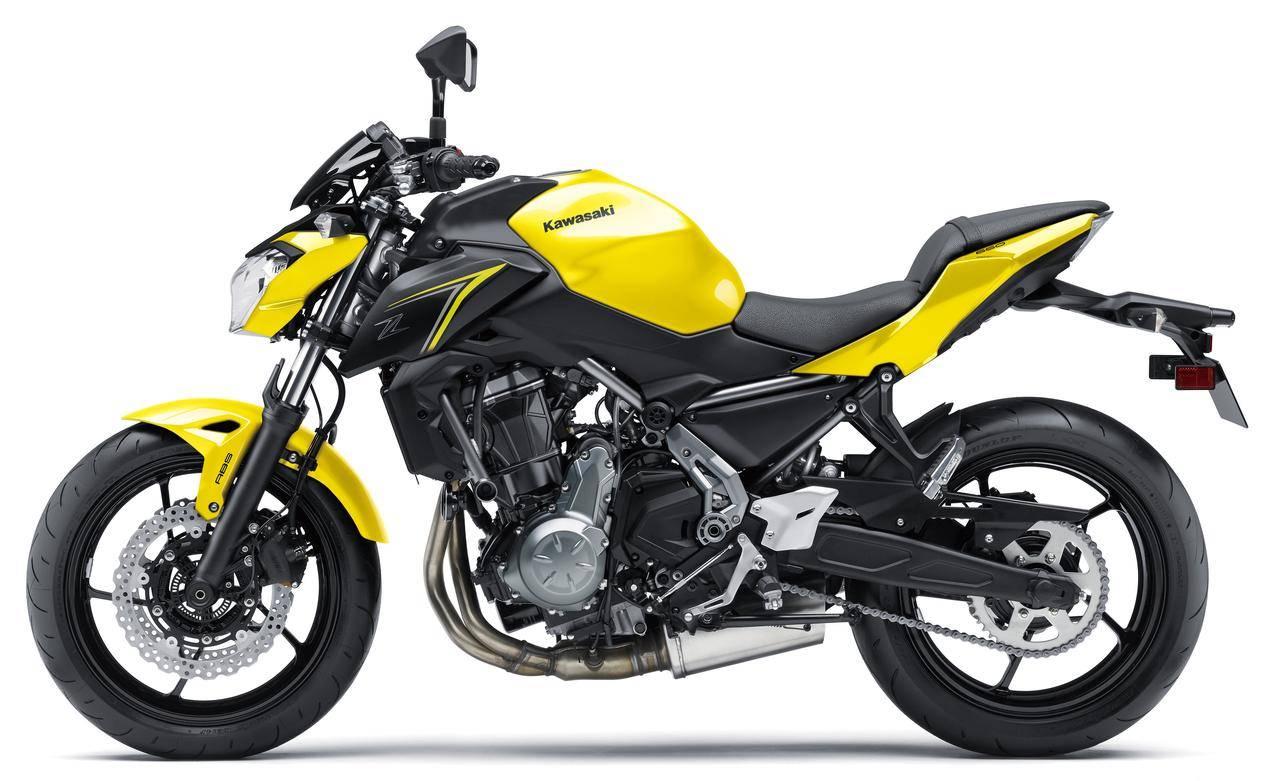 kawasaki z650 facelift 2018 yellow