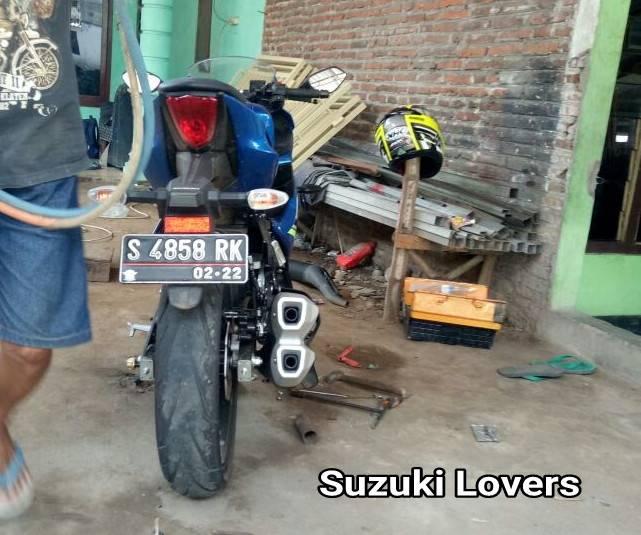 Modifikasi Suzuki GSX-R150 Pakai Knalpot CBR250RR, Gimana Suaranya???