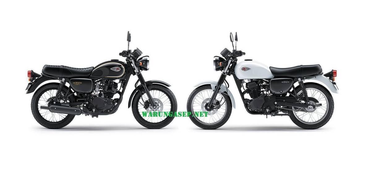 Foto Studio Kawasaki W 175 2018 Versi Standar dan Versi SE