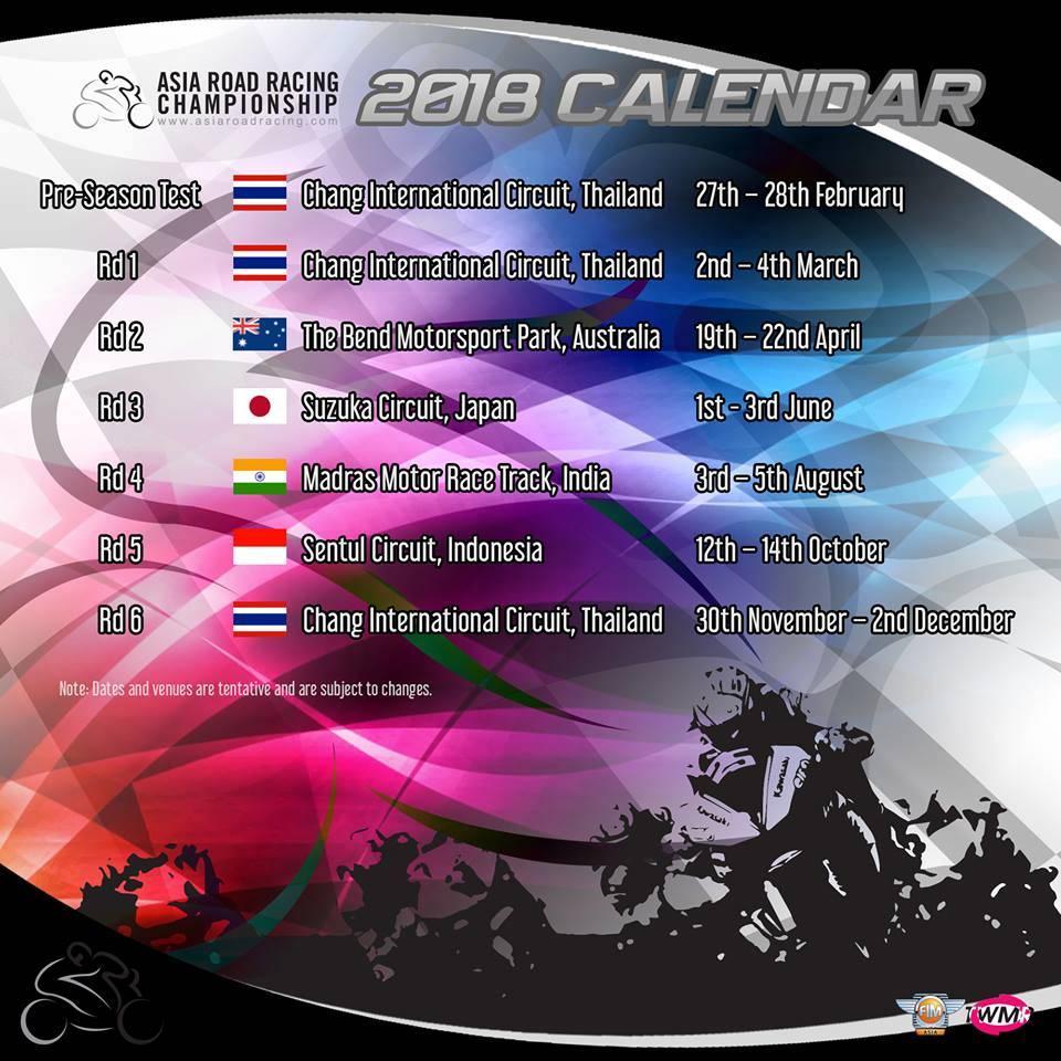 jadwal race arrc 2018