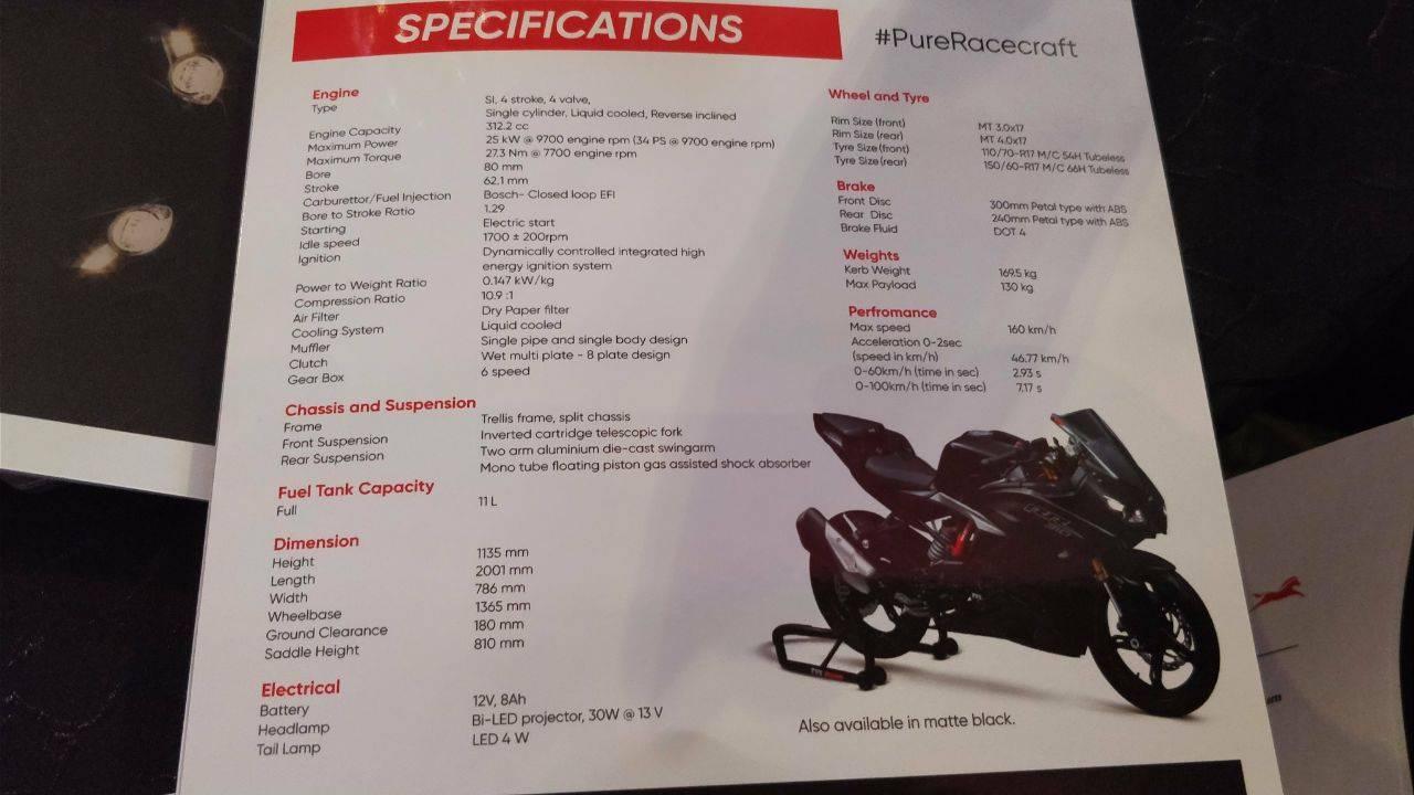 spesifikasi TVS RR 310