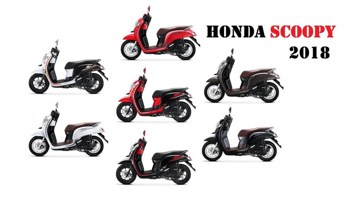 Honda Scoopy 2018 Punya 7 Warna Baru, Ada Yang Red Matte Euy... Harga Rp. 17,8jutaan