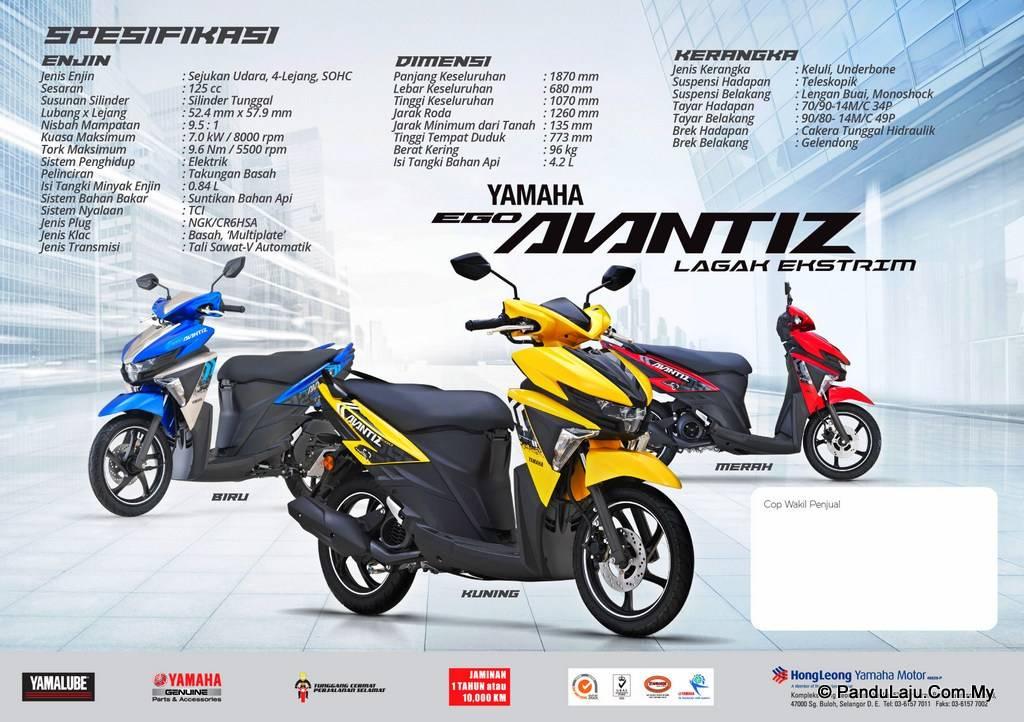 Yamaha Ego Avantiz Versi 2018 Soul Gt 125 Versi Malaysia Tampil