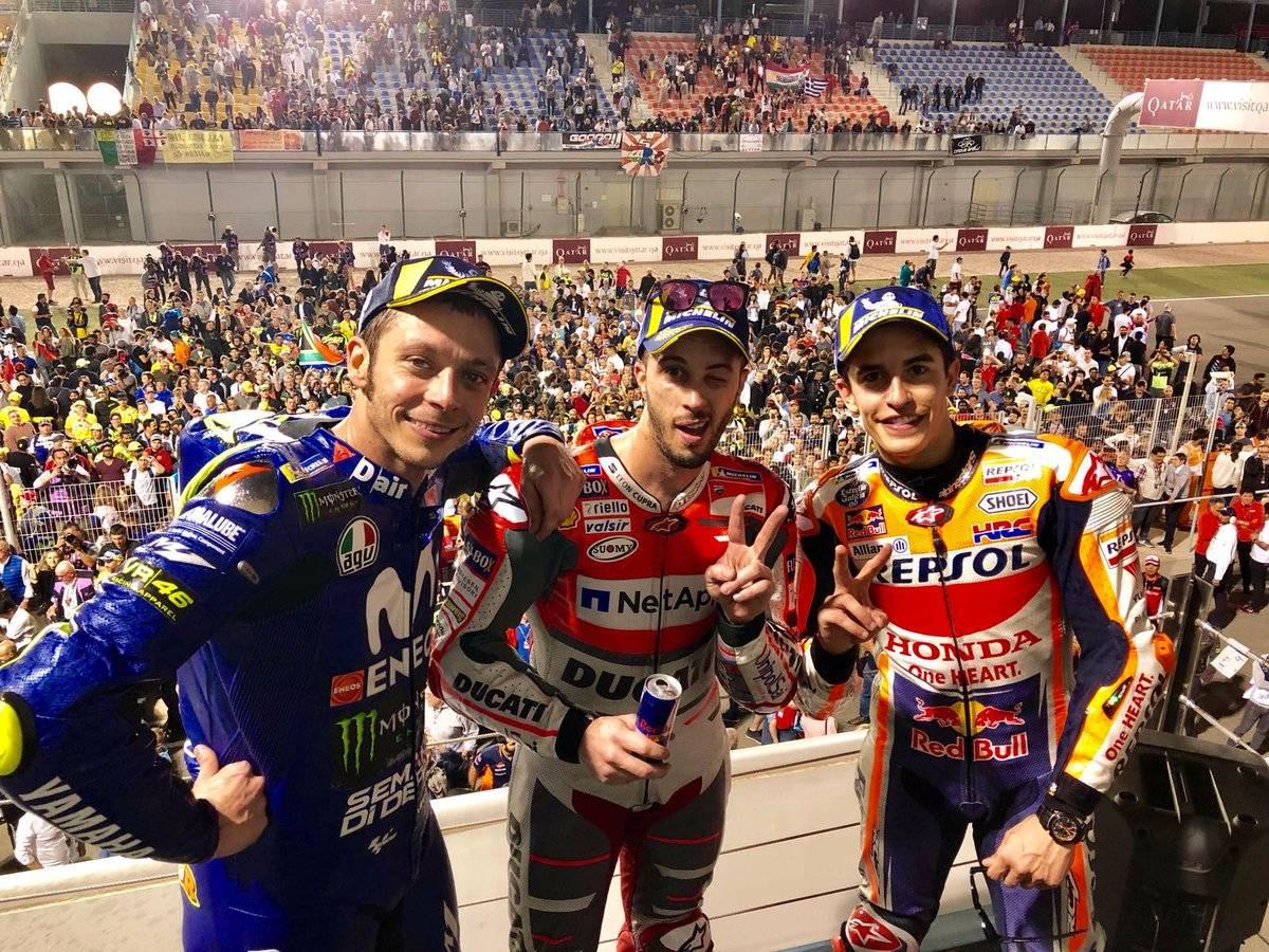 Klasemen Poin Sementara Motogp, Moto2 dan Moto3 2018 Pasca Race Qatar