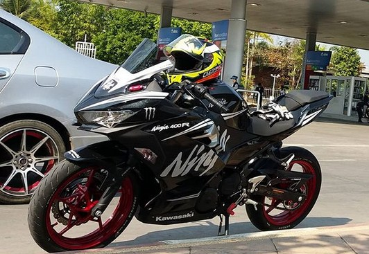 Modifikasi Ninja 250 Fi Facelift Livery Winter Test Makin