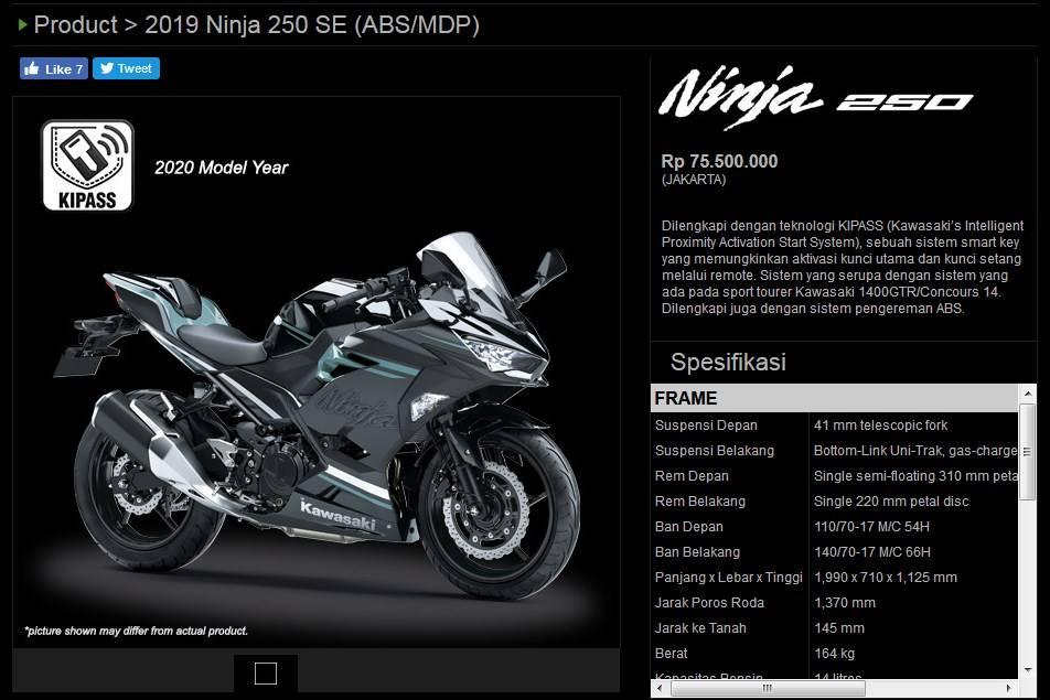 ninja 250 2020 mdp