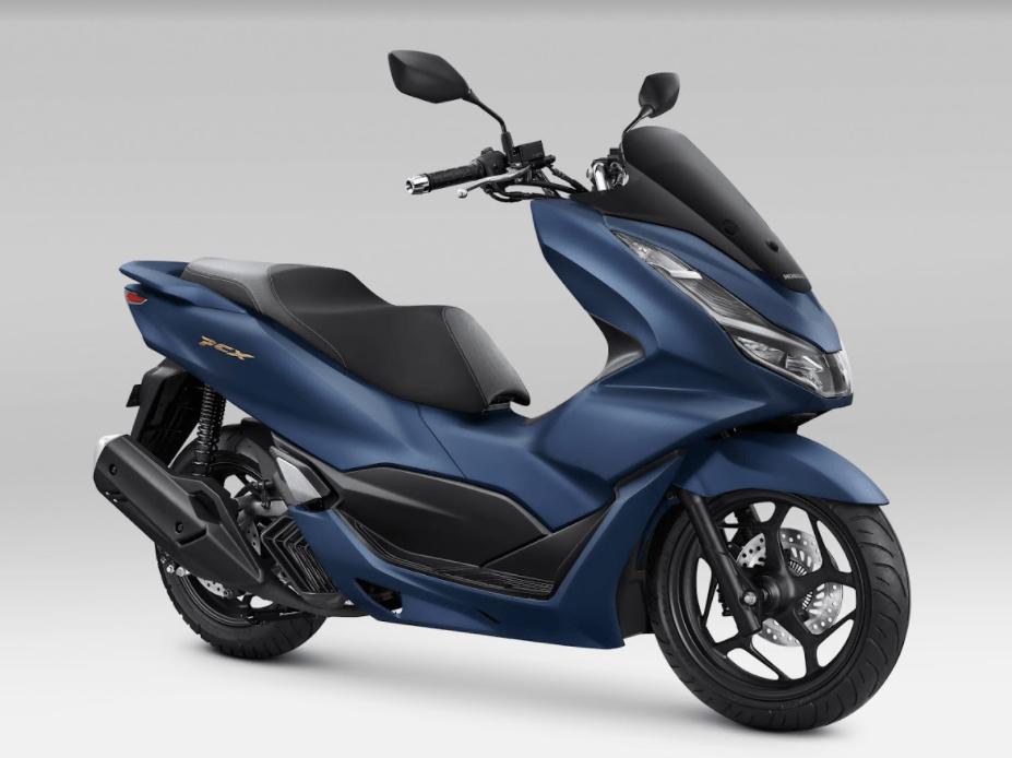 Honda PCX160 2021 Indonesia matte blue abs