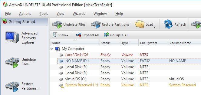 Cara RRecovery File, Folder dan Partisi yang dihapus Menggunakan Active Undelete