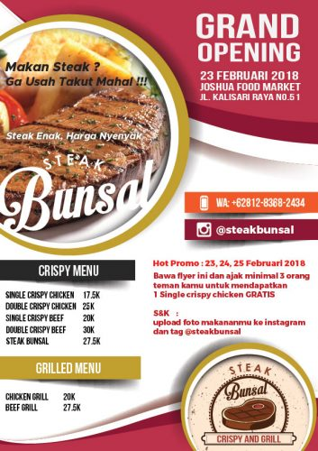 Brosur Steak Bunsal