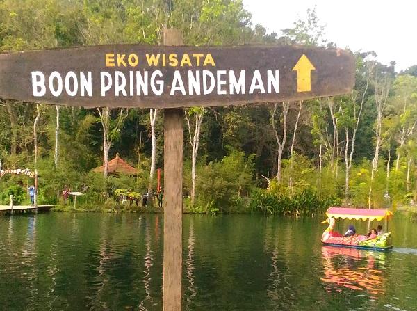 boonpring andeman,wisata murah di malang,wisata murah,hutan bambu andeman,wisata murah meriah,embung desa,wisata murah di jogja