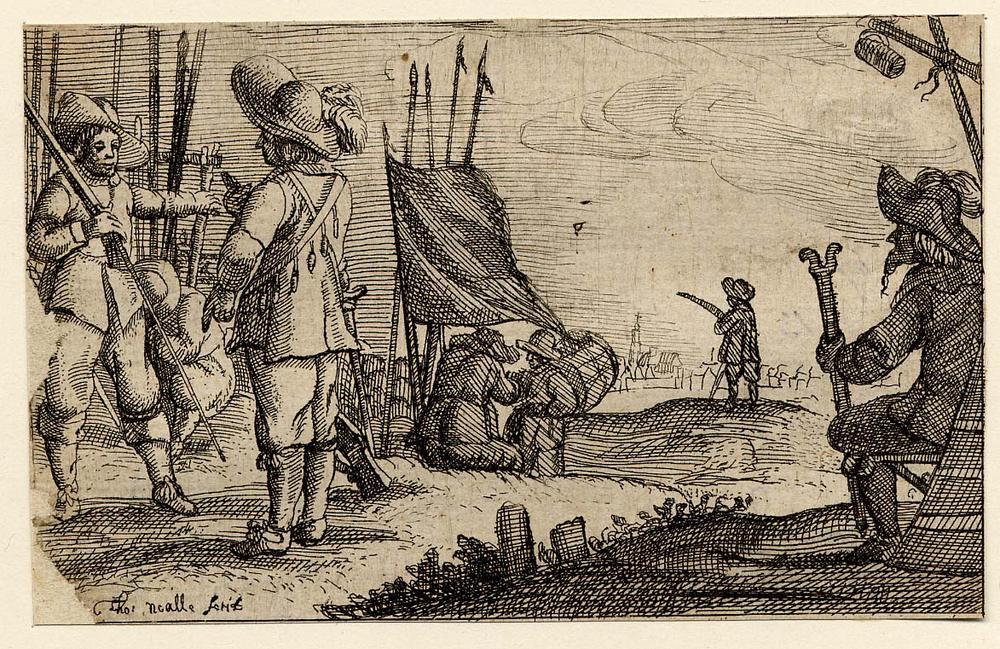 Civil War etching BM