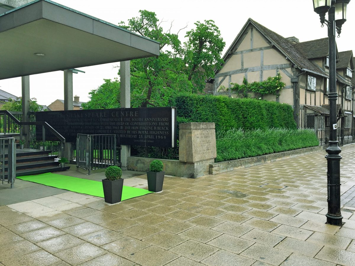 Shakespeare Birthplace Lin entrance