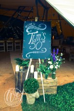 Blackboard Sign for 50th Birthday