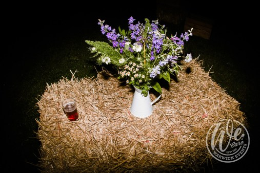 Hay Bales as Event Seating at Festival Party