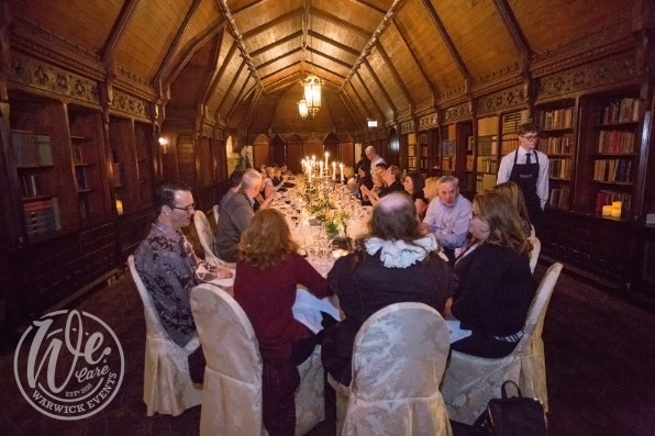 Shakespeare-dinner-for-50-guests-VIP-dinner-old-library