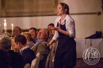Shakespeare entertainment waitresses at dinner