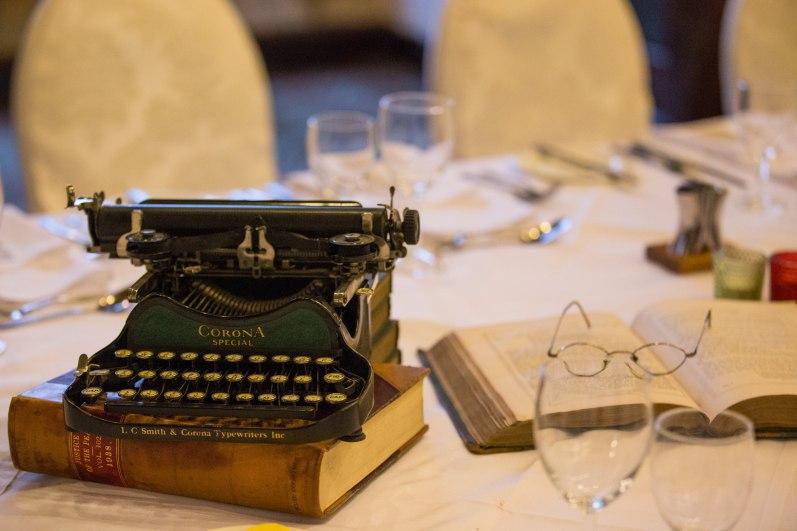 Shakespeare themed dinner table props