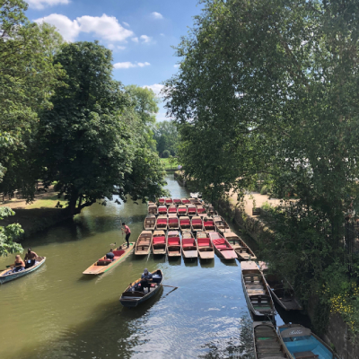 Oxford punting and rowing boats