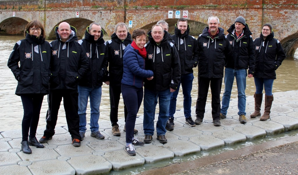 Emma Wellstead and Stratford upon Avon Boat Club volunteer coaches in their Warwick Events sponsored Musto jackets