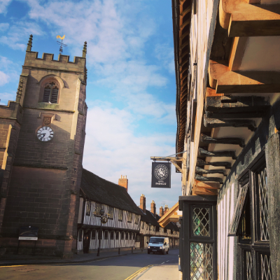 Guild chapel and Shakespeare's school in Stratford upon Avon