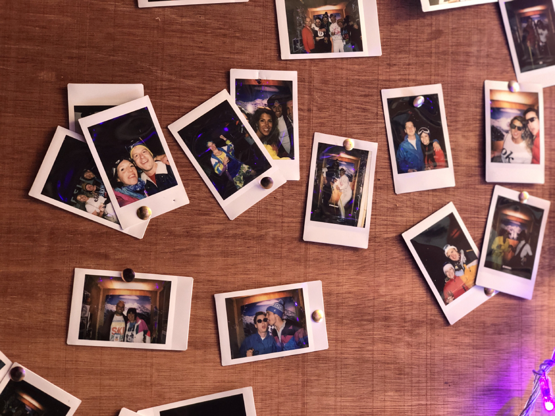 Collection of polaroid photos