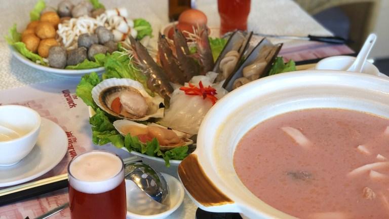 seafood pink htopot