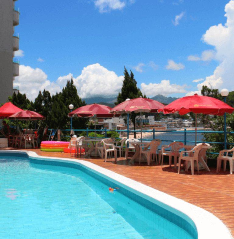 outdoor pool (pixelated)