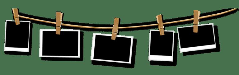 hanging blank polaroid
