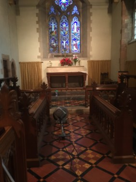 Victorian Floor Tiles Frankton Church Before Cleaning