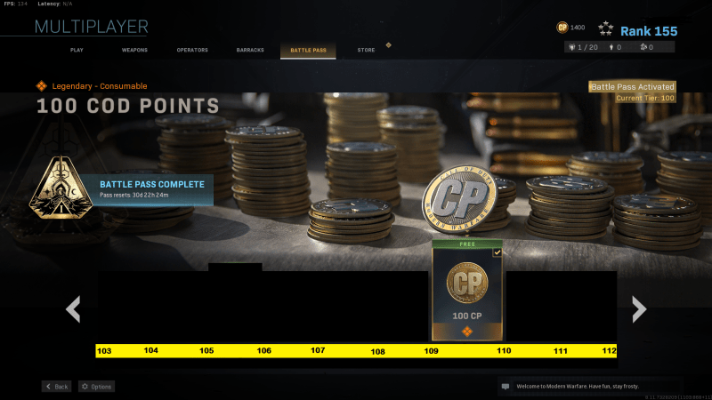 free tire point in battle pass