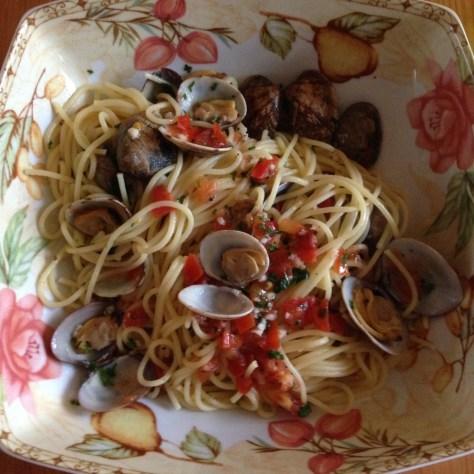 Spaghetti mit Teppichmuscheln