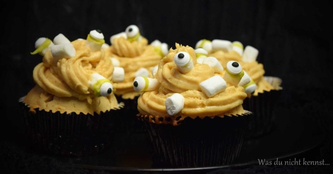 Halloween-Special Erdnussbutter-Cupcakes
